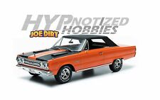 GREENLIGHT 1:18 JOE DIRT PLYMOUTH 1967 BELVEDERE GTX DIECAST ORANGE 19006