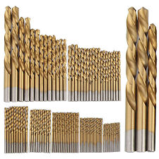 99pc HSS Titanium Coated Metal High Speed Steel Drill Bit Set Kit Tool 1.5-10mm