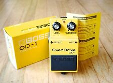 1985 Boss OD-1 Overdrive Japan Black Label Guitar Effect Pedal Near Mint w/ Box
