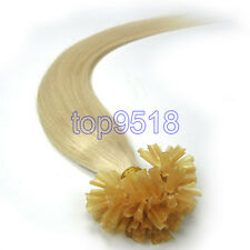 """16-26""""1g/s Fusion Pre Bonded Glue U/Nail Tip Remy Human Hair Extensions Straight"""