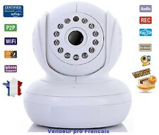 Camera Wanscam Sans Fil Wireless WiFi IP IR Nightvision Dual Audio Webcam Blanc