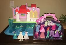 DISNEY STORE MINI PRINCESS ARIEL MERMAID FASHION ACCESSORY SET And CASTLE Polly