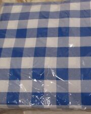 Blue White Bistro Gingham Check Tablecloth 60 x 102 Rectangle