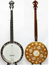 5 String banjo,curl maple,MOP inlaid Resonater,Hard case,BBO08