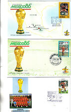 3 1986 world cup first day covers featuring south korea