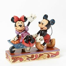 Disney Mickey Minnie Halloween Pushing Pumpkins 4039067 Jim Shore Thanksgiving