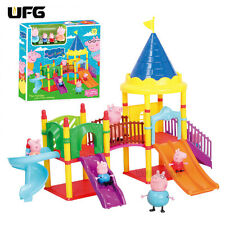 Peppa Pink Pig Playground Children's Slide Play Set With Figures Xmas Kid Gift