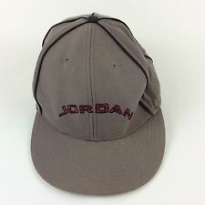 Air Jordan Headwear Casquettes Gray Wool Fitted Baseball Hat Cap Size 8