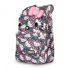 Hello Kitty Backpack All Over Print Pink/Grey/White Sanrio Licensed Bag NEW