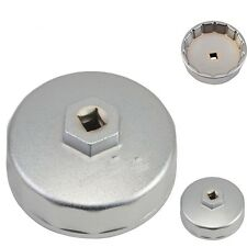 Silver 74mm 14 Flutes Oil Filter Wrench Cap Tools Fits For Mercedes Benz,VW,Audi