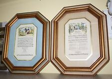 2 FRAMED PRINTS VICTORIAN MUSIC FOR FLUTE MATTED