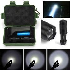 2000LM Mini CREE Q5 LED Flashlight Torch Rechargeab 14500 Battery & Charger& Box