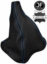 BLUE STITCHING REAL LEATHER MANUAL GEAR GAITER FITS FORD MUSTANG 1995-2005