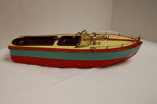 1950s Tin Model Boat Battery Operated Made in Japan. Manufacturer? Unknown