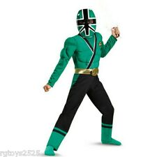 Power Rangers Samurai Green Muscle Costume size 7-8 M New Childs Halloween