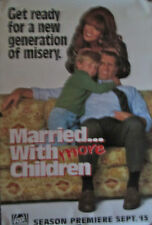 """MARRIED WITH MORE CHILDREN FOX TV 1990'S ORIG POSTER 40"""" X 27"""" MINT ROLLED"""