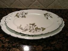 Vintage Set 2 Lg. Platers Embassy Dogwood Pattern Vitrified China,Made In USA.