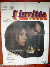 "L'invitée {Joanna SHIMKUS} 47""x63"" French Movie Poster 60s"