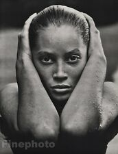 1988 Vintage 16x20 CHRISTY TURLINGTON Female Fashion Model Photo Art HERB RITTS