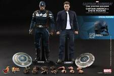 Hot Toys MMS243 1/6 Marvel Captain America & Steve Rogers Twin Figure Set