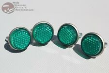 Green License Fastener Body Panel Tailgate Reflectors Hot Rod Motorcycle Truck