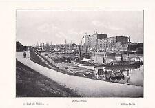 Mannheim Hafen um 1910 oder älter - Souvenierblatt Sammelbild - SELTEN