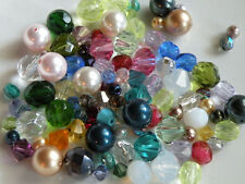 100 Mixed Swarovski Crystals & Pearls and Czech Fire Polished Beads 4mm 6mm 8mm