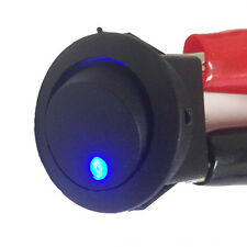 3 Pack Round ON OFF Rocker Switch Mini Toggle Blue LED 3/4 mount hole