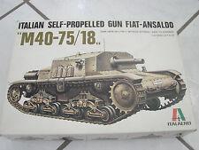 Italaerei Italian Self Propelled Gun Fiat-Ansaldo tank 1/35  model kit set italy
