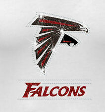 NFL - Atlanta Falcons Bling - Iron-on Glitter Vinyl & Rhinestone Transfer