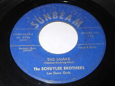 The Schuyler Brothers: The Snake / Never Before 45 - Sunbeam 110