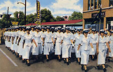 WAF Women in Air Force Basics March in San Antonio Lackland contingent POSTCARD