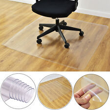 "47"" x 47"" PVC Chair Floor Mat Home Office Protector For Hard Wood Floors New"