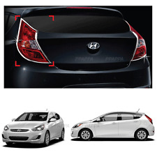 Rear Chrome Tail Light Lamp Trim Cover Molding For Hyundai Accent 2012-2017