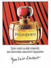 PUBLICITE ADVERTISING 074  1994  YVES SAINT LAURENT   parfum pour femme