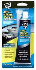Water Proof Sealant Glue Dap 00694 2.8-Ounce Silicone Rubber Auto/Marine Clear