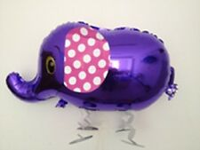 PURPLE ELEPHANT WALKING BALLOON FOIL HELIUM PET PARTY ZOO AIR PARTY BIRTHDAY NEW