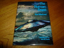 KEN MacLEOD-IAIN BANKS-THE HUMAN FRONT-DOUBLE SIGNED-1ST LTD ED-2001-HB-F-RARE