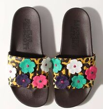 NEW ADIDAS ORIGINALS JEREMY SCOTT LEOPARD FLORAL ADILETTE SLIDES SANDALS US 10