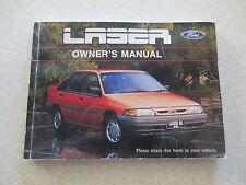 1992 Ford Laser owner's manual