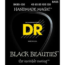 DR BKB5-130 Black Beauties Coated 5-String Medium Electric Bass Strings (45-130)