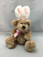 Easterteddy Bear Rabbit Ears Cotton Tail Pink White Brown Animal Adventure Plush