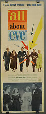 ALL ABOUT EVE 1950 ORIG. 14X36 MOVIE POSTER INSERT MARILYN MONROE BETTY DAVIS
