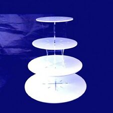 Four Tier Classic Round Cake Stand - White