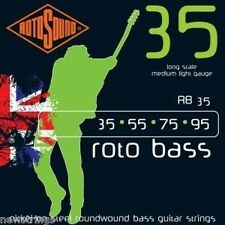 ROTOSOUND RB35 ELECTRIC Bass guitar Strings lunghi scala 35-95 MEDIUM LIGHT