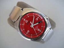 Vintage Retro Seiko Automatic Watch 7S26-0120 S-Wave 90's Rare Red Dial Watch
