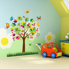 Colorful Tree Butterfly Wall Sticker Decals Room Decor Vinyl Mural Kids Nursery
