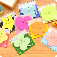 Cute Fun Lovely Memo With Cover Bookmark Pad Stick Paste Memo Tab Sticky Notes
