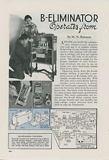 1936 Magazine Article How To Build B Power Unit for Radio Receiver Electronics