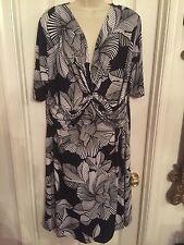 DRESS BARN 3X Plus Size woman 22 Gorgeous Party Dress Black & White WOMEN'S